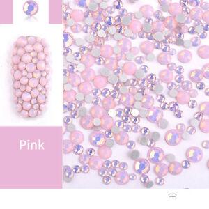 Multi Size Opal Jelly Nail Rhinestones Crystal Glass Gems For UV Gel 3D Nail Art