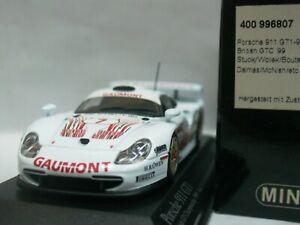 WOW EXTREMELY RARE Porsche 993 911 GT1 Evo #7 British GTC 1999 1:43 Minichamps