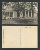 1940s EAST VIEW THE LITTLE WHITE HOUSE WARM SPRINGS GEORGIA POSTCARD