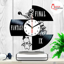 Final Fantasy IX 9 Game Vinyl Record Wall Clock Vivi Home Decor Art Best Gift
