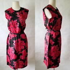 Vintage 60s Sir James Silk Floral Belted Party Dress