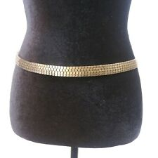 Gold Cube Chain Ladies Belt