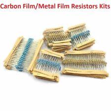 1W 2W 3W 5W Carbon Film Resistor Kit 1/2W 1W Metal Film Resistor Combination Kit