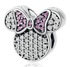1pcs Silver CZ European Charm Beads Fit 925 Necklace Bracelet Pendant Chain D524
