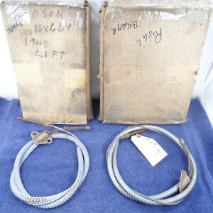 Left & Right Rear Brake Cable Set 1940 Hudson Traveler 6 1940 Hudson DeLuxe 6