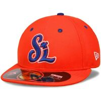St. Lucie Florida Mets Hat New Era 59Fifty Fitted Cap 7 Orange New York Mets New