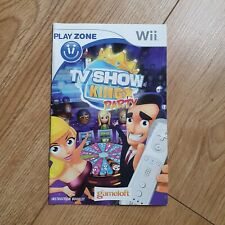 Wii TV SHOW KING PARTY Instruction Manual Booklet - Good Condition