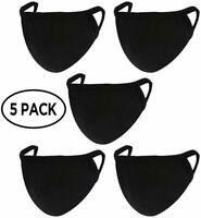 Face Mask 5 Pack With 5 FILTER MASKS Soft WASHABLE FREE SHIPPING MADE IN USA