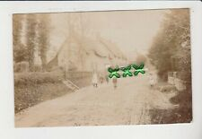 More details for photo? postcard ; green lane row, ashmore ( nr shaftesbury ) children in road