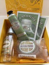 L'Occitane Almond Gift Boxed Set Shower Oil Soap Hand Cream Milk Concentrate