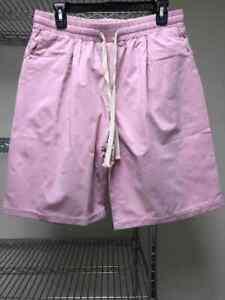 NWOT Women Solid Elastic Waist Casual Shorts  Summer Hot Pants Plus Pink 2XL