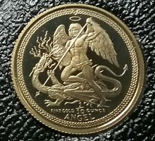 WOW! 1986 ISLE OF MAN 1/10 OZ UNC Proof GOLD ANGEL Coin KEY DATE Very Few Minted