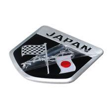 Japan Japanese Flag Shield Emblem Badge Car Motorcycle Sticker Alloy Waterproof