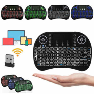 Black Wireless Mini Ultra Slim Keyboard and Mouse For Easy Smart TV Contol for LG 55LM860V Smart TV