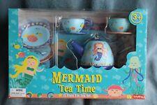 Schylling Mermaid Tin Tea Set NIB!