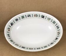 """Royal Doulton China Oval Vegetable Bowl  Tapestry Pattern 9 1/2"""""""