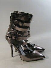 "new Steve Madden Steel 5""High Heel Pointy Toe Ankle Straps Sexy Shoes Size 9"