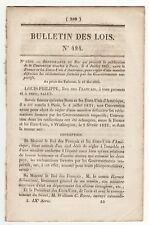 1836, French Law which prescribes the publication of the Convention with the USA