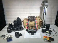 Canon AE-1 Program Camera with Lenses and Acessories