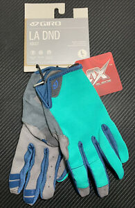 Giro LA DND Woman's Full Finger Cycling Gloves Turquoise/Blue Teal, Large *NWT!*