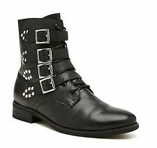 Women's Shoes Witchery Becca Biker Boot Size 37 New 100% Leather RRP $249.95