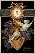 NEUJAHR 1909 Prägekarte Glückwunsch zum Neuen Jahr, gelaufen Stempel FORST L.