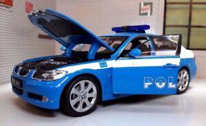 G LGB 1:24 Scala BMW 3 Serie 330i 22465 Dettagliato Welly Modello Polizia Auto