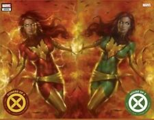 HOUSE OF X & POWER OF X #1 PARRILLO TRADE VARIANT SET  2 Books Hot X-Men Title
