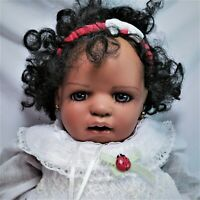 """African American Baby Doll Porcelain Inge Tenbusch Masterpiece Gallery 20"""" Peggy"""
