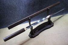 Boutique Japan T10 Rosewood Clay Tempered Kiriha Zukuri Ninjato Straight Sword