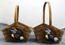 "Small Decorative Golf Woven Wicker Grass Rattan Baskets - Set of 2 - 8.5"" x 7"""