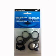 "Two Little Fishies 3/4"" Plastic Hose Clamp Set of 6"