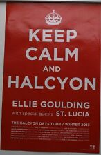 ELLIE GOULDING KEEP CALM AND HALCYON 14x22  RARE POSTER PRINT 2012