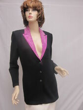 St John Knit EVENING NWOT Black Fuscia Jacket Size 6