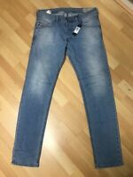 NWD MEN Diesel BELTHER STRETCH DENIM 084CU BLUE SLIM W33 L34 H7 RRP£150
