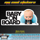 Baby On Board Vinyl Sticker Decal for car,ute,4x4 - Boss Baby, cute funny