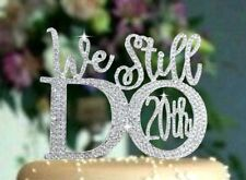We Still Do 20th Anniversary Wedding Cake Topper made with Crystal Rhinestones