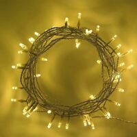 80 LED Warm White String Fairy Lights Battery Operated Xmas Wedding Decorations
