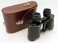Vintage Carl Zeiss Jena Jenoptem 8x30W Binoculars + Leather Case #2176MS