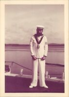 Photograph Navy Sergeant in His Whites 1950's 4.75 x 3.5 inches