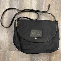 Marc By Marc Jacobs Nylon Crossbody Bag Medium Black Gold Zippers