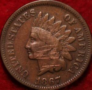 1867 Philadelphia Mint  Indian Head Cent