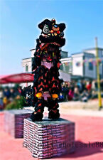 Lion Dance mascot Costume wool Southern black Lion China Folk art For two adults