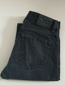 FW16 Supreme Stone washed slim black jeans size 30 W30 L30