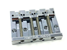Chrome OMEGA Grooved Bass Bridge for Top Load Fender P/Jazz Bass® BB-3351-010