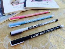 4PCS Fashion Blue Ball Pen 0.5mm Korean Stationery School Office Simple & Neat