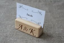 20 Personalized Wood Place Card Holders for Weddings, Rustic Table Number Holder