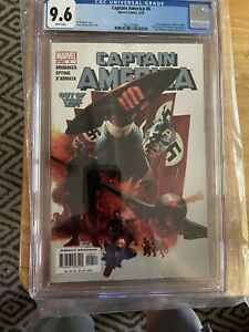 Captain America #6 CGC 9.6 First The Winter Soldier 🔑 Disney Marvel Mcu 🔥🔥🔥