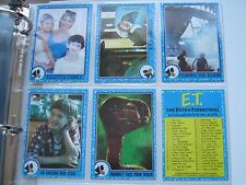 E.T. Trading Cards , Topps ,  1982 , 200 Misc. Lot and  Extra Terrestrial  Cards