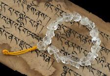 Bracelet Pearl Rock Crystal Skull 0 9/16in Tibet Nepal Hand Made 26608